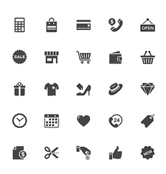 Shopping and Commerce Icon on White Background vector image vector image