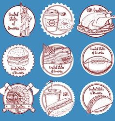 Sketch wine barrel in vintage style vector