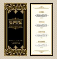 Vintage restaurant or cafe menu design template vector image vector image