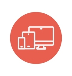 Wireless gadget thin line icon vector image