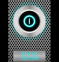 3d button vector image