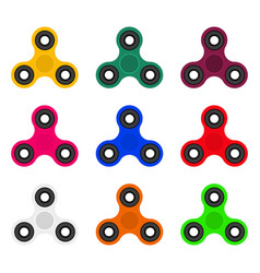 collection of fashionable modern spinners toy vector image vector image