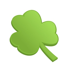 Green shamrock clover on st Patrick Day vector image