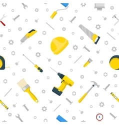 Home repair and renovation tools seamless pattern vector