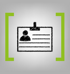 id card sign black scribble icon in vector image vector image