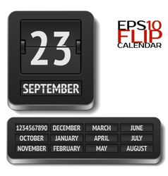 Isolated analog flip calendar isolated vector image vector image