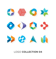 logo collection 4 vector image vector image