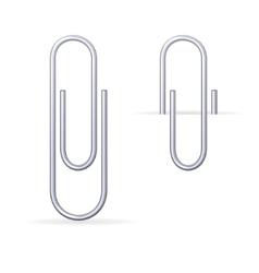 metal steel clips set vector image vector image