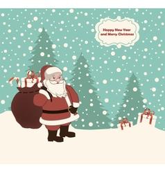 Postcard with Santa vector image vector image