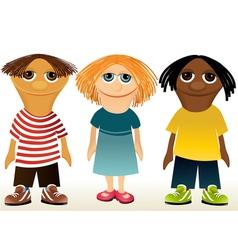 Three children mascotes vector image