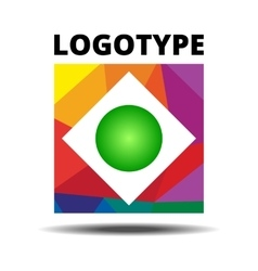 Abstract Ribbon Square logo vector image