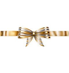 Beautiful striped shiny bow vector image vector image