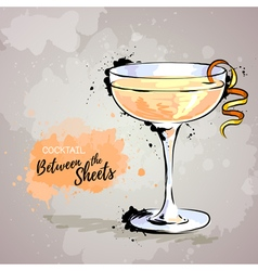 cocktail between the sheets vector image