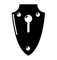 lock medieval icon simple black style vector image vector image