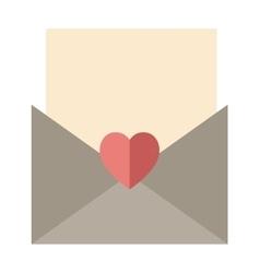 Love letter envelope and heart sticker cartoon vector image