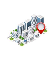 navigation city map vector image