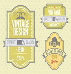 Vintage labels resize vector image vector image
