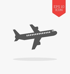 Airliner icon Flat design gray color symbol Modern vector image