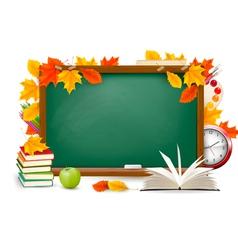 back to school chalk board vector image vector image