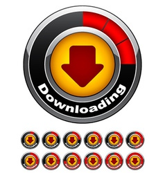 chrome download buttons vector image vector image