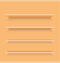 empty wood shelves template vector image vector image