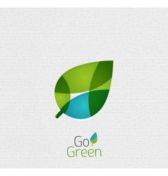 Green Leaf Nature Concept vector image vector image