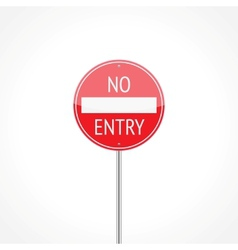 No entry traffic sign vector image vector image