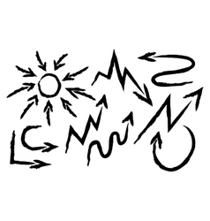 Set arrows drawn vector image