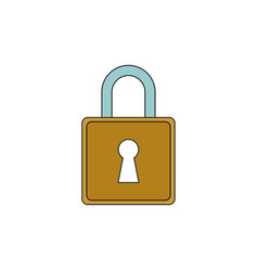 simple padlock outline icon vector image