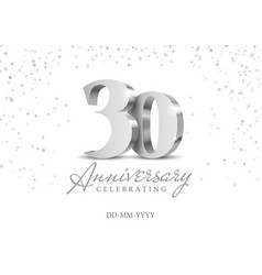 30 years anniversary celebration vector image