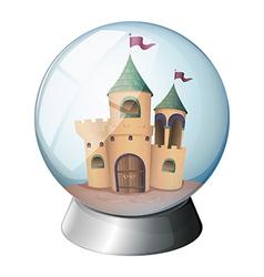 A castle inside glass dome vector