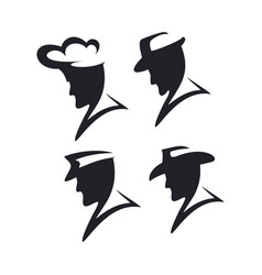 abstract man hat vector image