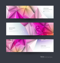 abstract molecules banner set vector image