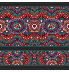Abstract ornamental ethnic seamless stripes vector