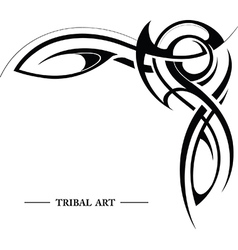 Abstract tribal background vector image vector image