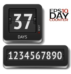 Analog flip day counter on white vector image