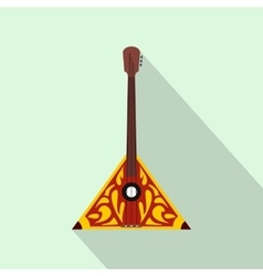 Balalaika icon flat style vector image
