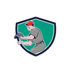 Baseball Player OutFielder Throwing Ball Crest vector