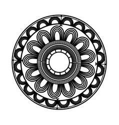 Beautiful deco black mandala patterned design vector
