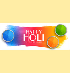 Beautiful happy holi indian festival colorful vector