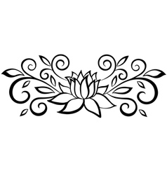 Black and white abstract flower vector