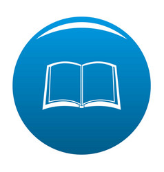 book university icon blue vector image