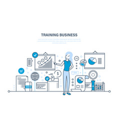Business training consulting learning teaching vector
