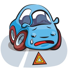 Car Crashed Cartoon vector