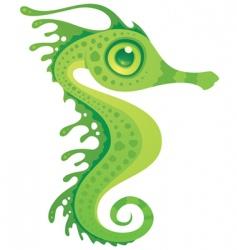 cartoon seahorse vector image