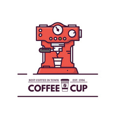 Coffee machine line style vector