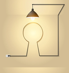Creative keyhole with light bulb idea vector