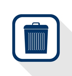 Delete flat icon vector