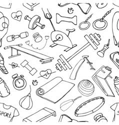 Doodle pattern set of sport vector