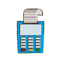 drawing payment credit card dataphone shop vector image